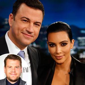 Jimmy Kimmel, Kim Kardashian, James Corden