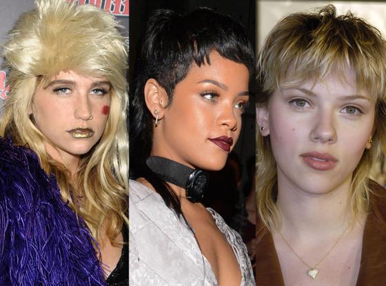 Kesha, Rihanna, Scarlett Johansson, Mullets