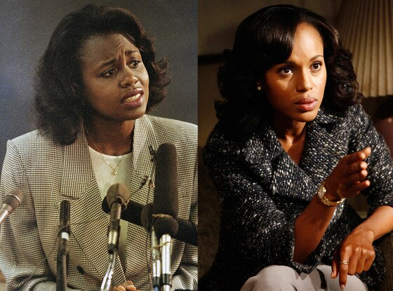 Anita Hill, Kerry Washington, Stars Playing Real People
