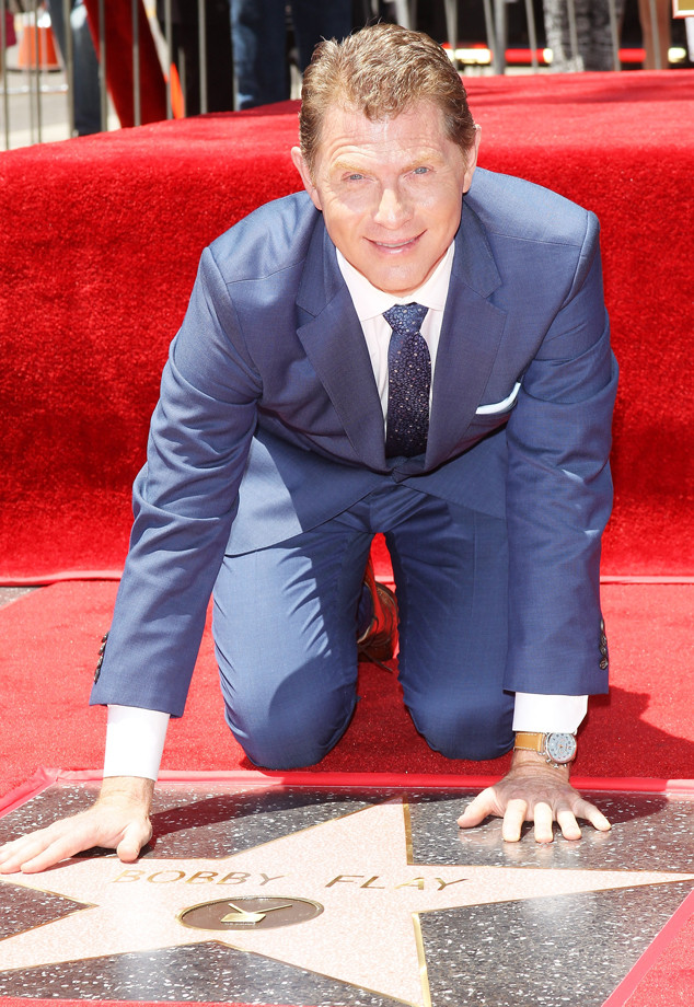 bobby flay receives star on hollywood walk of fame as. Black Bedroom Furniture Sets. Home Design Ideas