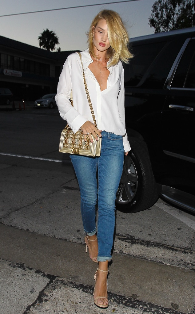 Dressed Down From Rosie Huntington Whiteley 39 S Street Style E News