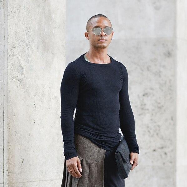 Fab De Almeida From Men 39 S Fashion Week Street Style E News