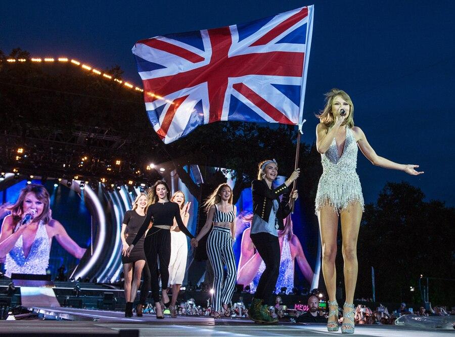 Martha Hunt, Kendall Jenner, Karlie Kloss, Gigi Hadid, Cara Delevingne and Taylor Swift