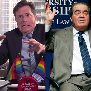 Stephen Colbert, Supreme Court Justice Antonin Scalia