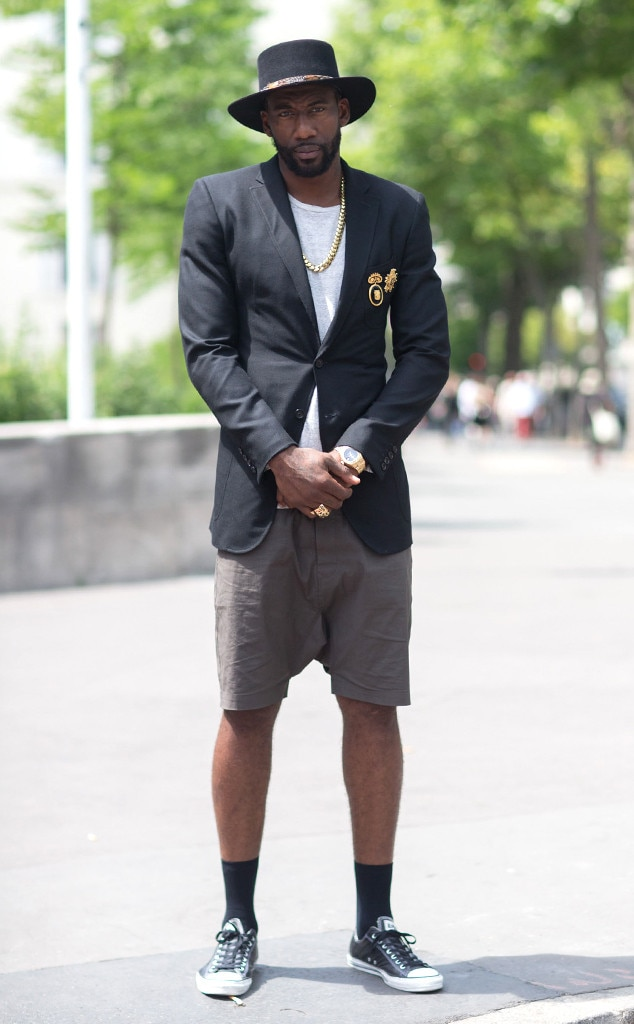 amare stoudemire from mens fashion week street style e