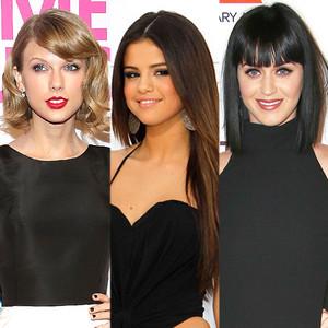 Taylor Swift, Selena Gomez, Katy Perry