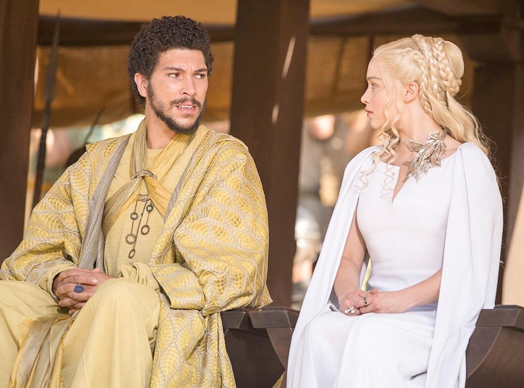 Hizdahr Zo Loraq (Joel Fry) and Daenerys Targaryen (Emilia ...