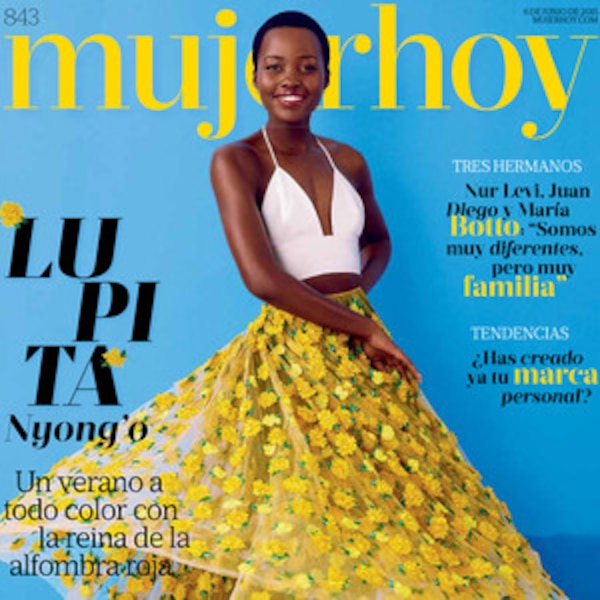 Lupita Nyong O Does Her Signature Twirl On The Cover Of