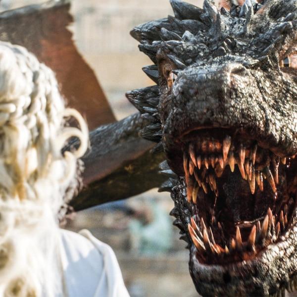 Daenerys Targaryen Emilia Clarke And Drogon From Holy