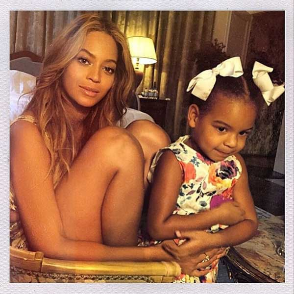 Beyoncé Cuddles With Daughter Blue Ivy, Jay Z Smiles And