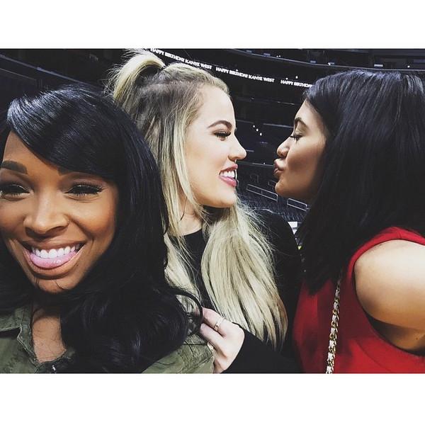 Kanye West, Kylie Jenner, Khloe Kardashian, Staples Center