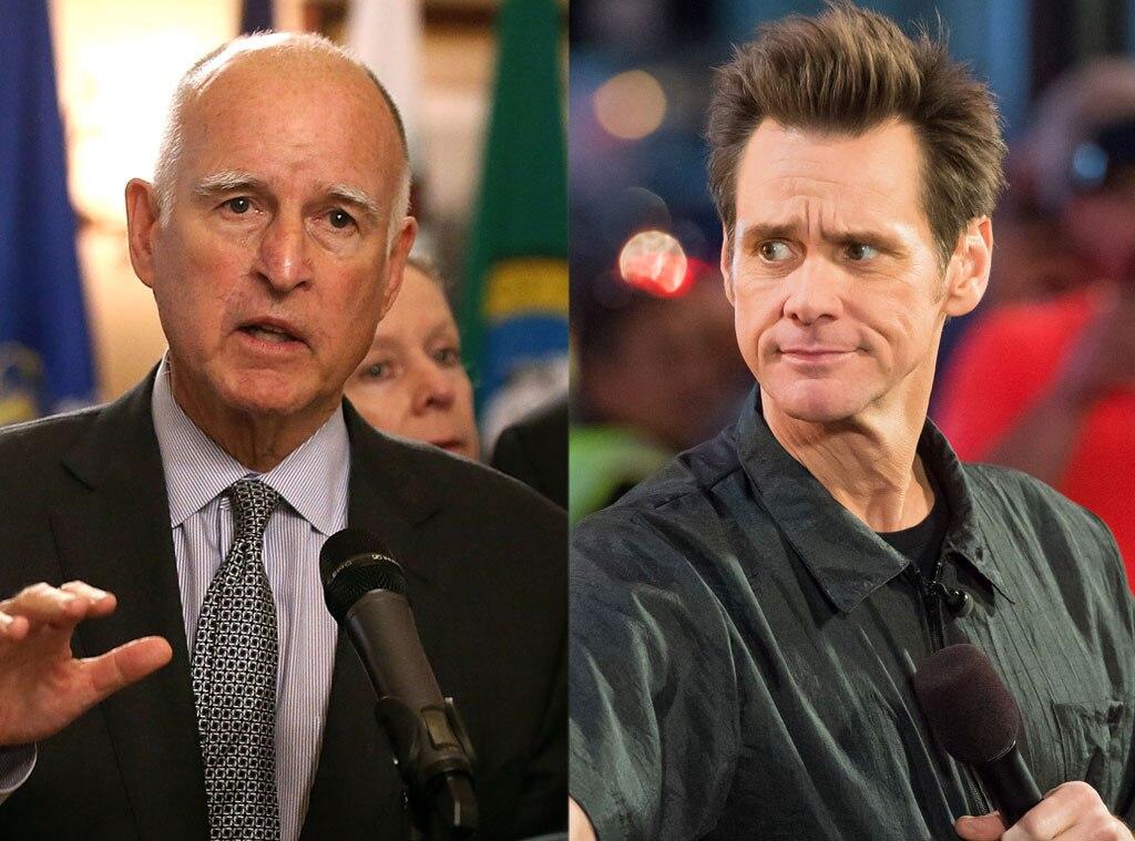 Jerry Brown, Jim Carrey