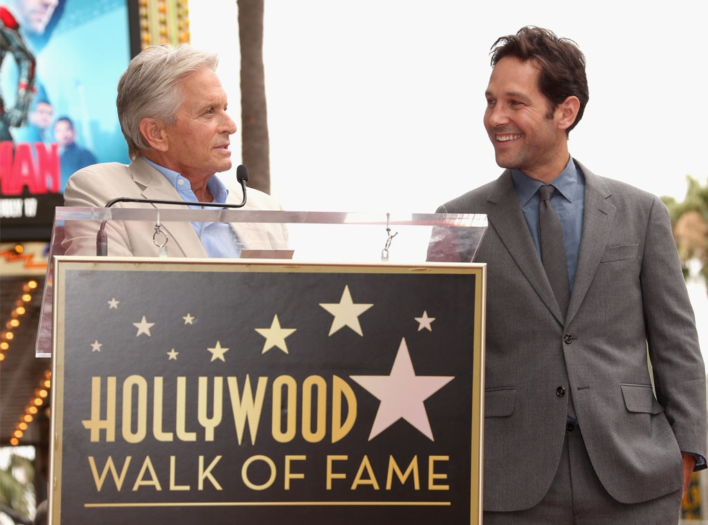Paul Rudd, Michael Douglas, Walk of Fame