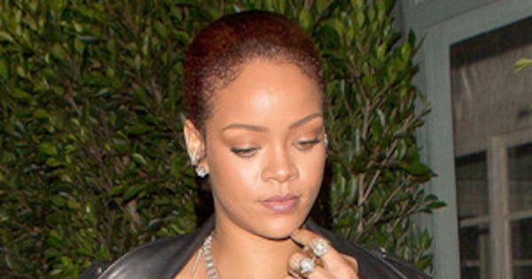 Rihanna flashes nipple piercing in sexy see through shirt for Nipple piercing through shirt