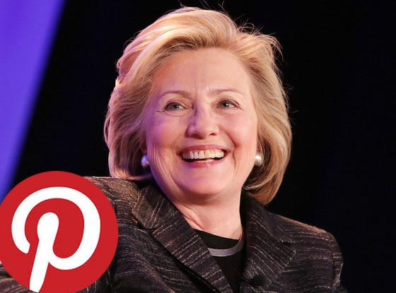 Hillary Clinton, Pinterest