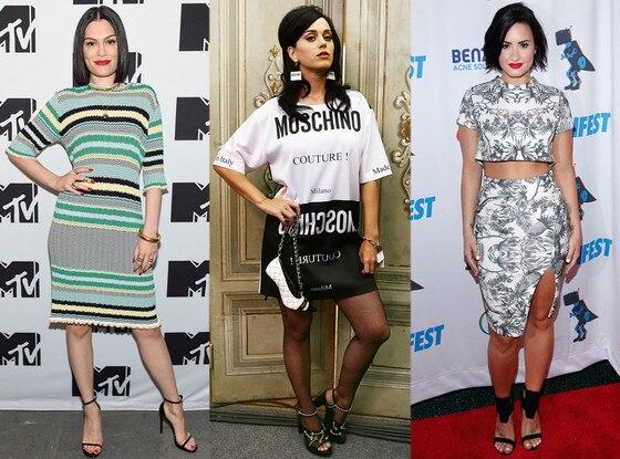 Jessie J, Katy Perry, Demi Lovato