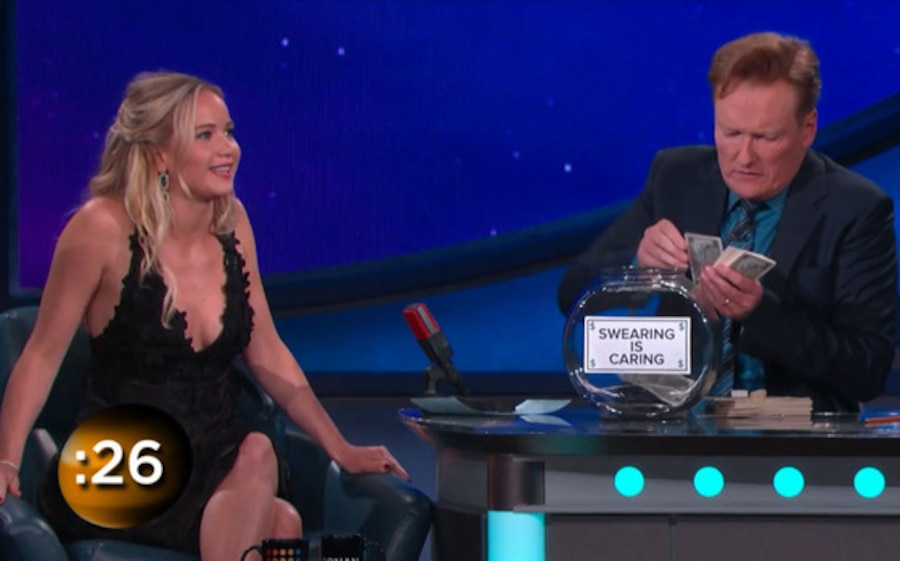 Jennifer Lawrence, Conan O'Brien