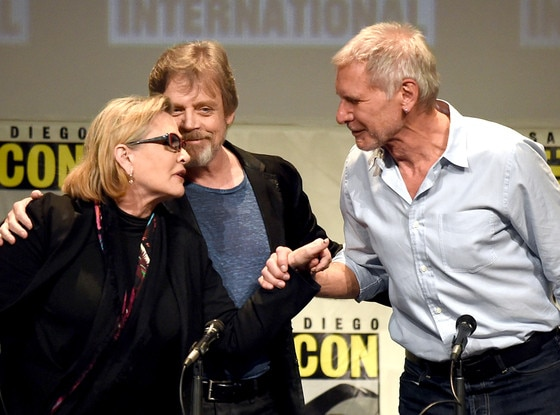 Carrie Fisher, Harrison Ford, Mark Hamill