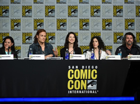 Outlander, Comic-Con, Sam Heughan, Caitriona Balfe, Maril Davis, Ronald D. Moore