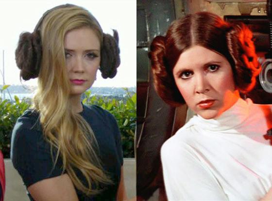 E! Takes Comic-Con,  Carrie Fisher, Princess Leia, Billie Lourd