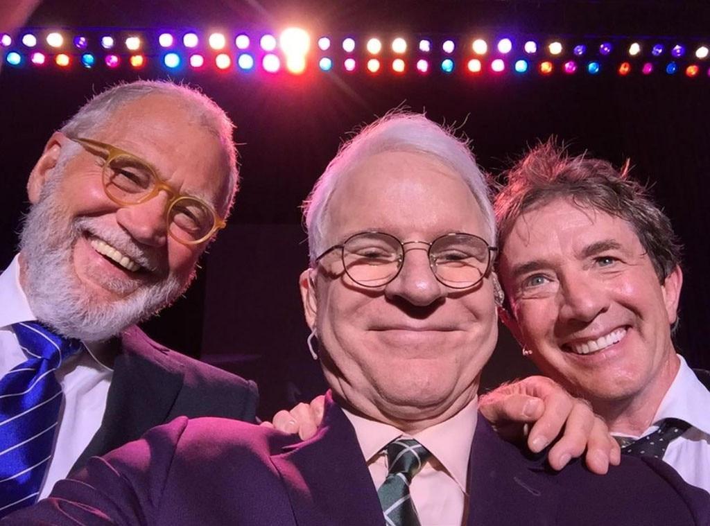 David Letterman, Martin Short, Steve Martin, Twitter