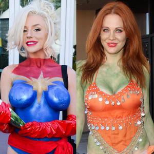 Courtney Stodden, Maitland Baxter, Body Paint, Comic Con