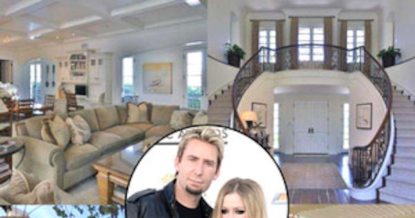 avril lavigne chad kroeger buy 5 4 million sherman oaks chateau see their gorgeous new pad. Black Bedroom Furniture Sets. Home Design Ideas