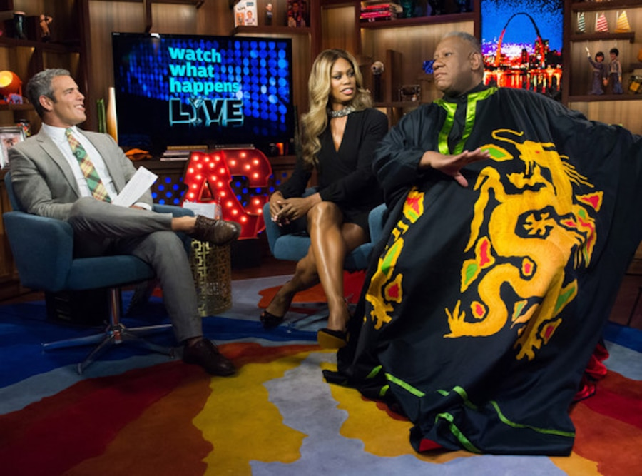 Andy Cohen, Laverne Cox, Andre Leon Talley, Watch What Happens Live
