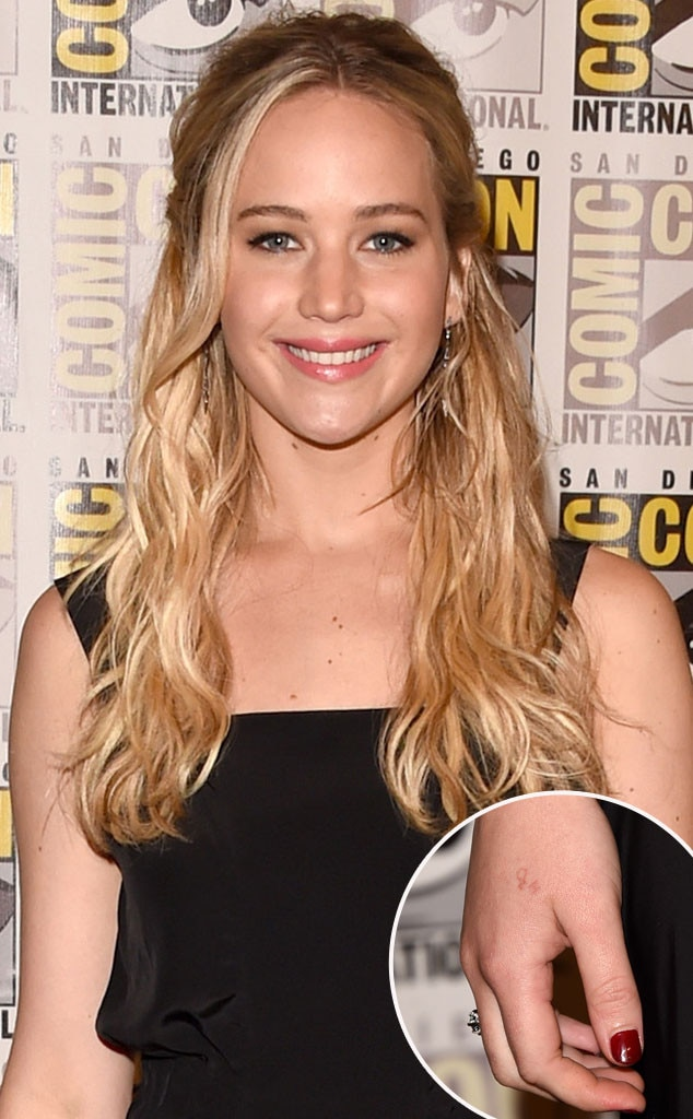 Jennifer Lawrence, Hand Tattoo