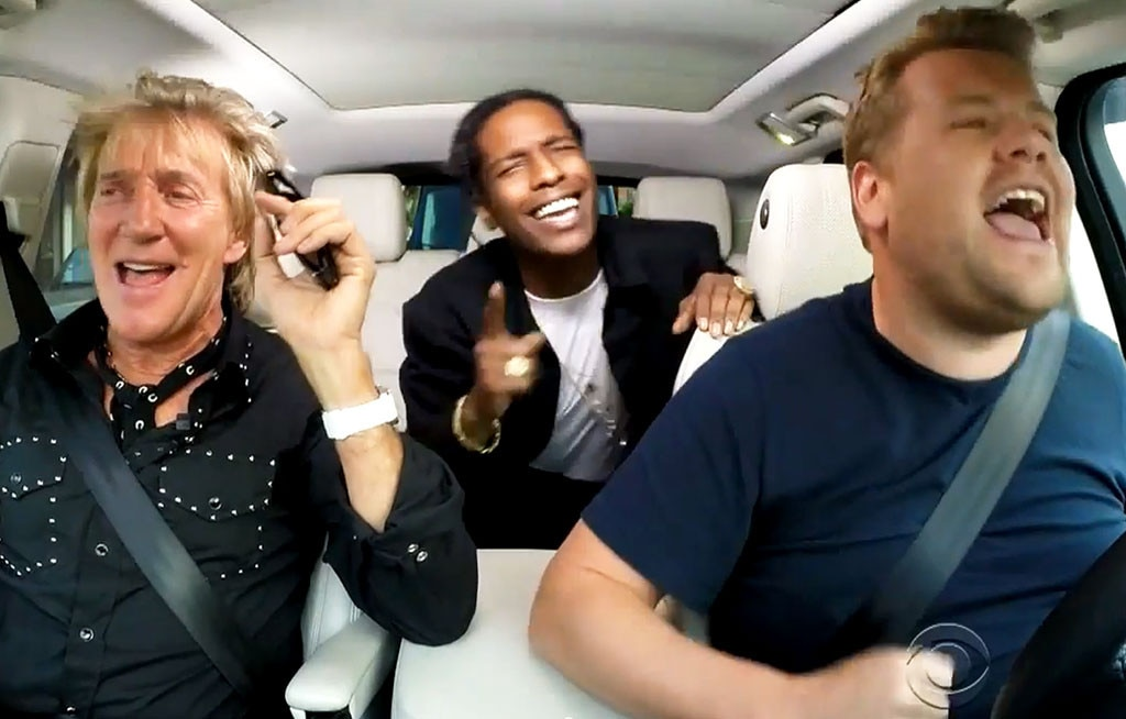 James Corden, Rod Stewart, A$AP Rocky, Carpool Karaoke