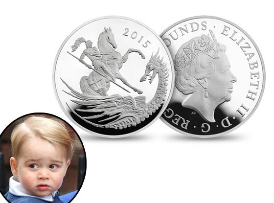 Prince William, Duke of Cambridge, Prince George, commemorative coin