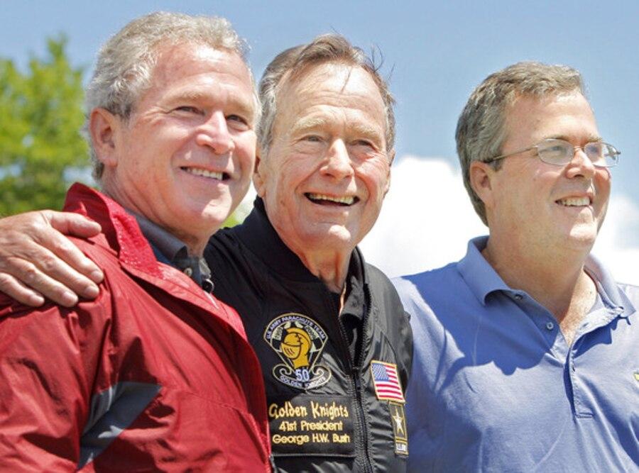 George W. Bush, George H.W. Bush, Jeb Bush