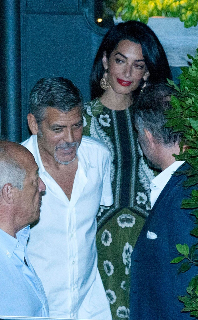 Inside George Clooney S Family Friendly Dinner In Italy