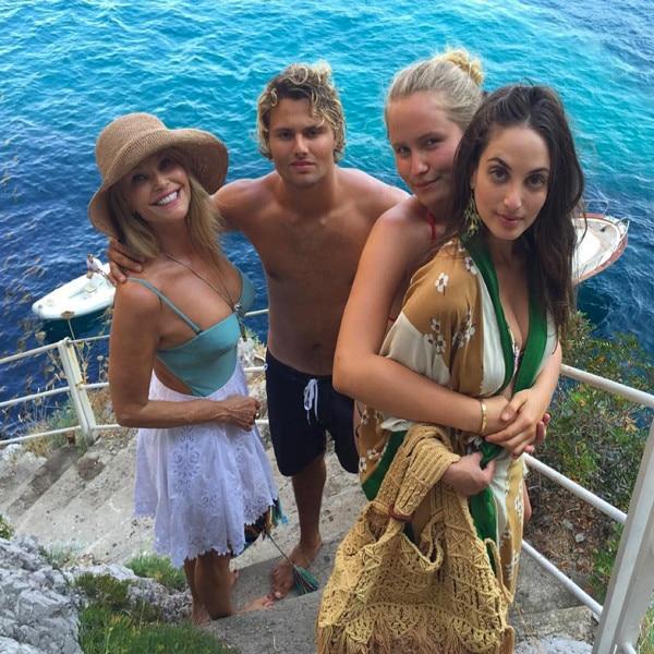 Christie Brinkley, Sailor Brinkley Cook, Alexa Ray Joel, Jack Brinkley Cook