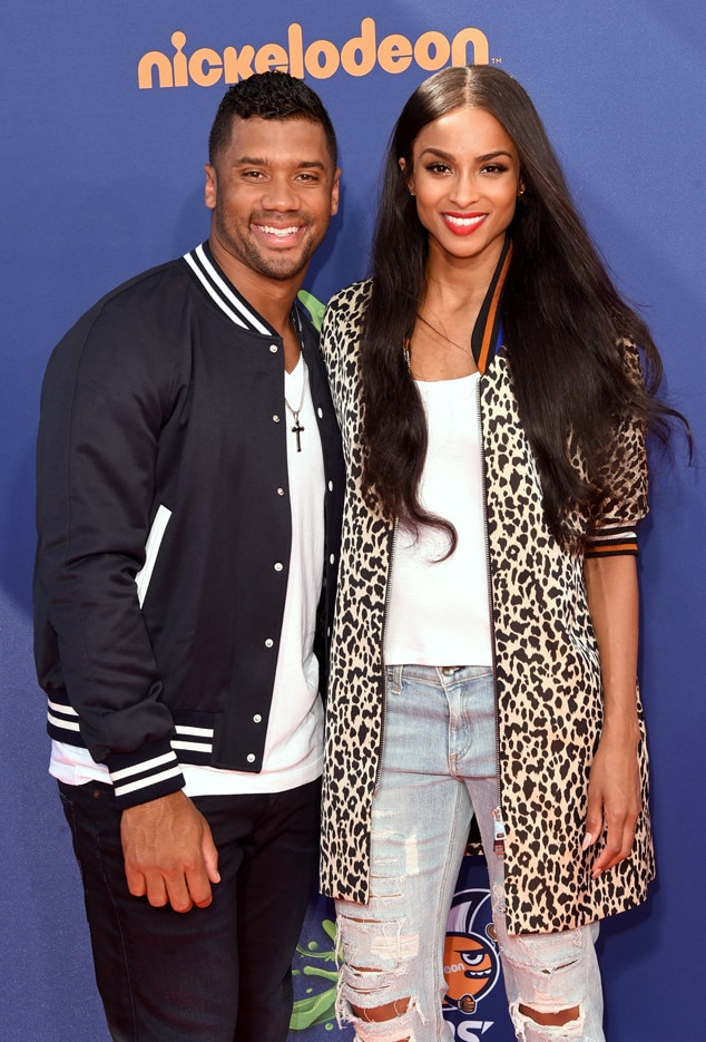 Russell Wilson, Ciara, Nickelodeon Kids' Choice Sports Awards