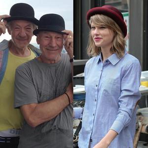 Taylor Swift, Ian McKellen, Patrick Stewart, Twitter