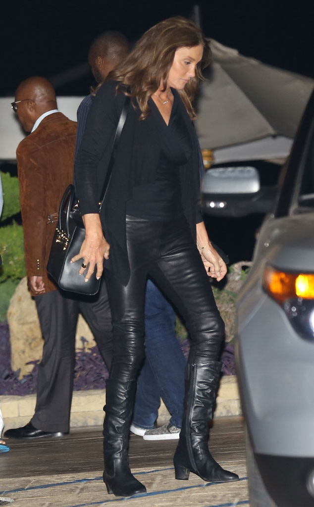 Caitlyn Jenner Rocks Fierce Black Outfit With Leather