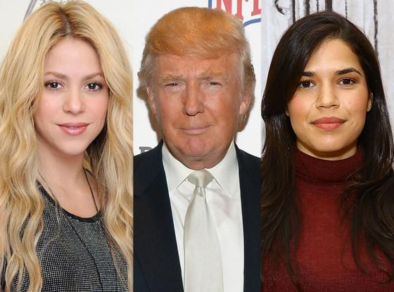Shakira, Donald Trump, America Ferrera