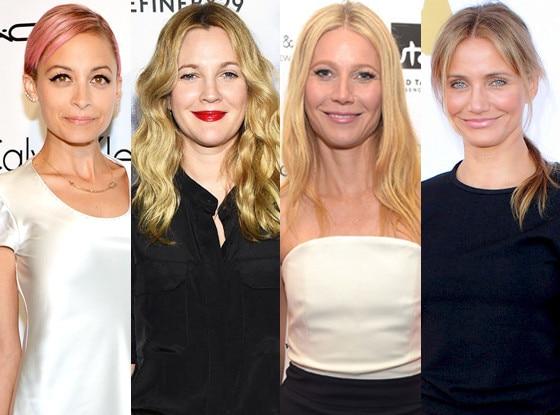 Cameron Diaz, Nicole Richie, Gwyneth Paltrow, Drew Barrymore