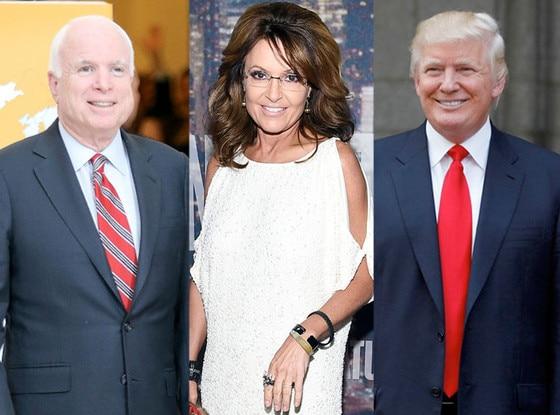 John McCain, Sarah Palin, Donald Trump