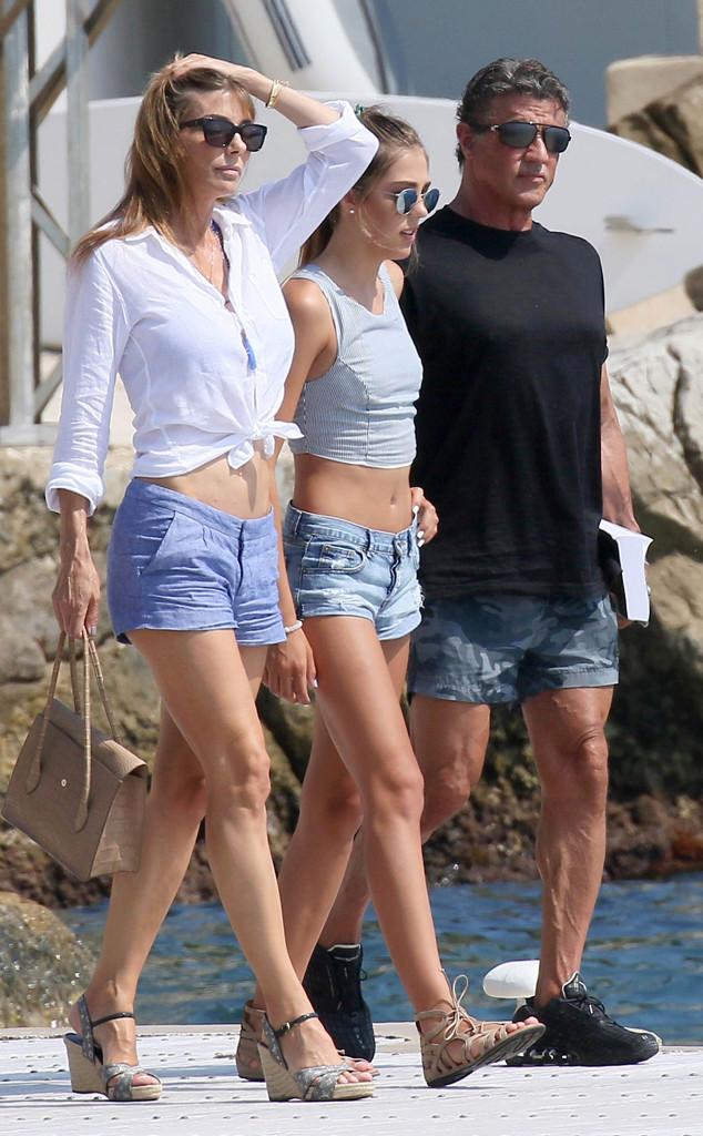 Sylvester Stallone, Sistine Stallone, Jennifer Flavin