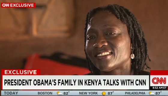 CNN Exclusive, Auma Obama Interview