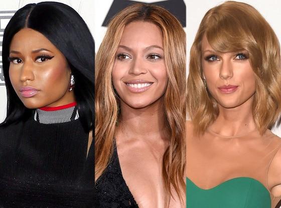 Nicki Minaj, Beyonce, Taylor Swift