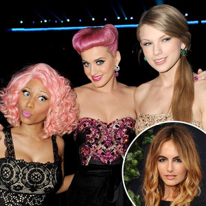 Camilla Belle, Nicki Minaj, Katy Perry, Taylor Swift