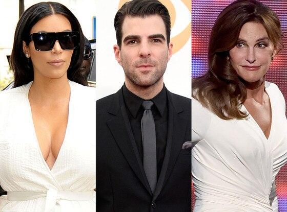 Zachary Quinto, Caitlyn Jenner, Kim Kardashian