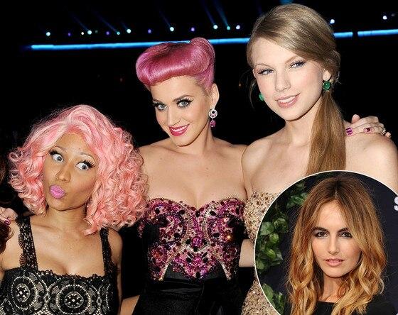 Camilla Belle, Nicki Minaj, Katy Perry, Taylor Swift