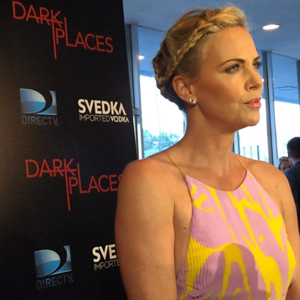 Charlize Theron at the Dark Places Premiere from Marc ... Charlize Theron Instagram