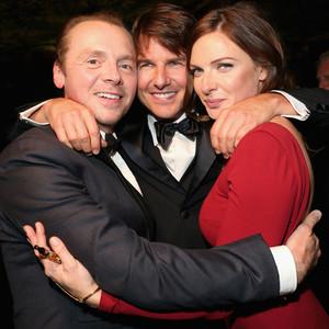 Simon Pegg, Tom Cruise, Rebecca Ferguson