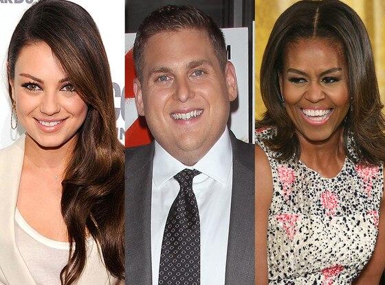 Michelle Obama, Jonah Hill, Mila Kunis