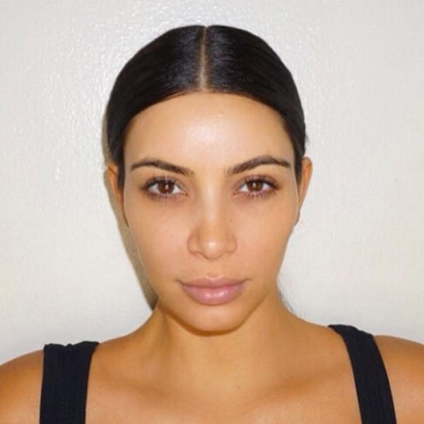 Kim k no makeup